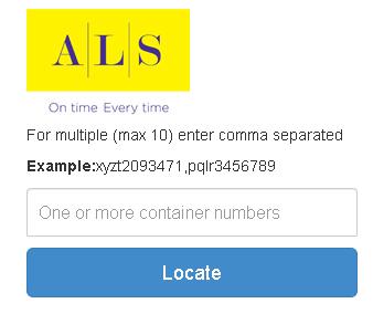 Apollo CFS Container Tracking Portal